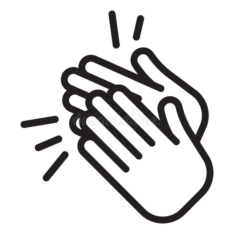 Εικονίδιο επιδοκιμασίας χτύπημα των χεριών ελεύθερη απεικόνιση δικαιώματος