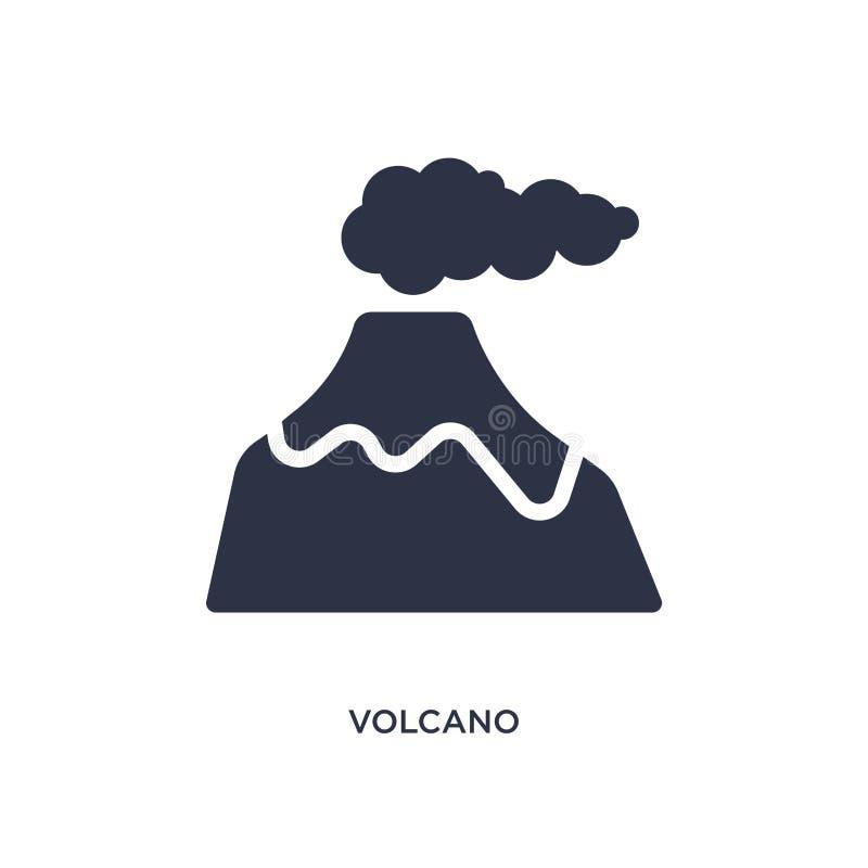 εικονίδιο ηφαιστείων στο άσπρο υπόβαθρο Απλή απεικόνιση στοιχείων από την έννοια εποχής του λίθου διανυσματική απεικόνιση