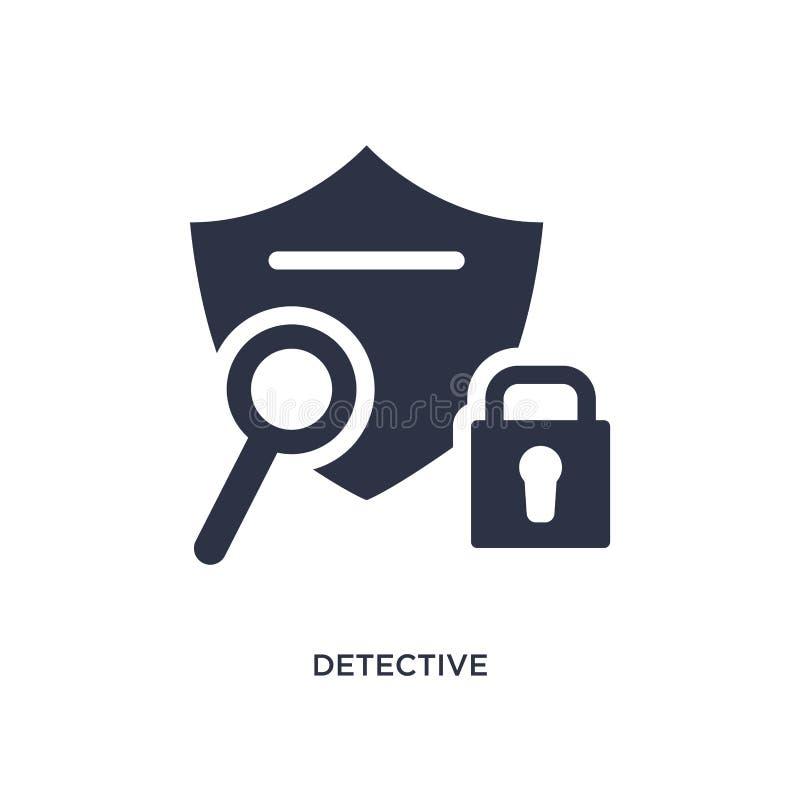 εικονίδιο ιδιωτικών αστυνομικών στο άσπρο υπόβαθρο Απλή απεικόνιση στοιχείων από την έννοια gdpr ελεύθερη απεικόνιση δικαιώματος