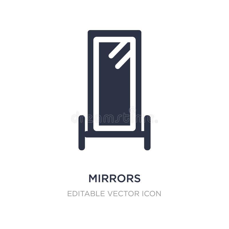 εικονίδιο καθρεφτών στο άσπρο υπόβαθρο Απλή απεικόνιση στοιχείων από την έννοια μόδας διανυσματική απεικόνιση