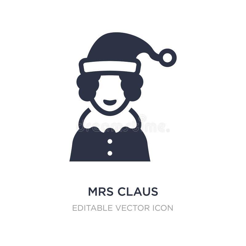 εικονίδιο κας Claus στο άσπρο υπόβαθρο Απλή απεικόνιση στοιχείων από την έννοια Χριστουγέννων ελεύθερη απεικόνιση δικαιώματος