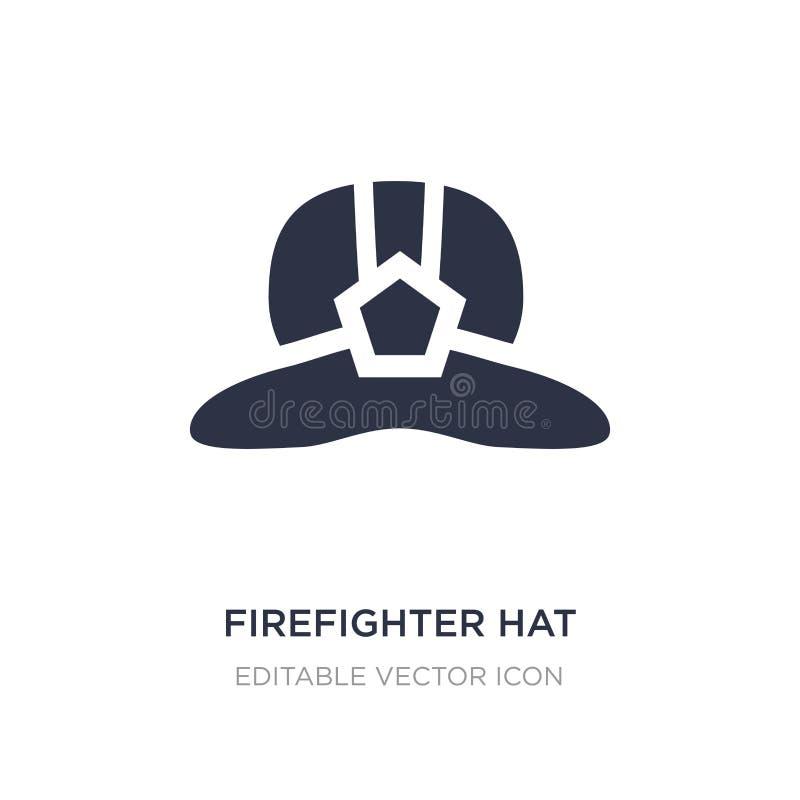 εικονίδιο καπέλων πυροσβεστών στο άσπρο υπόβαθρο Απλή απεικόνιση στοιχείων από την έννοια μόδας ελεύθερη απεικόνιση δικαιώματος