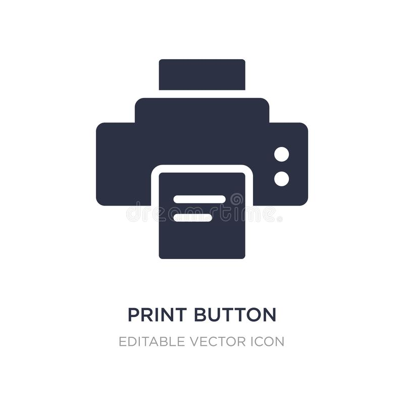 εικονίδιο κουμπιών τυπωμένων υλών στο άσπρο υπόβαθρο Απλή απεικόνιση στοιχείων από την έννοια εργαλείων και εργαλείων ελεύθερη απεικόνιση δικαιώματος