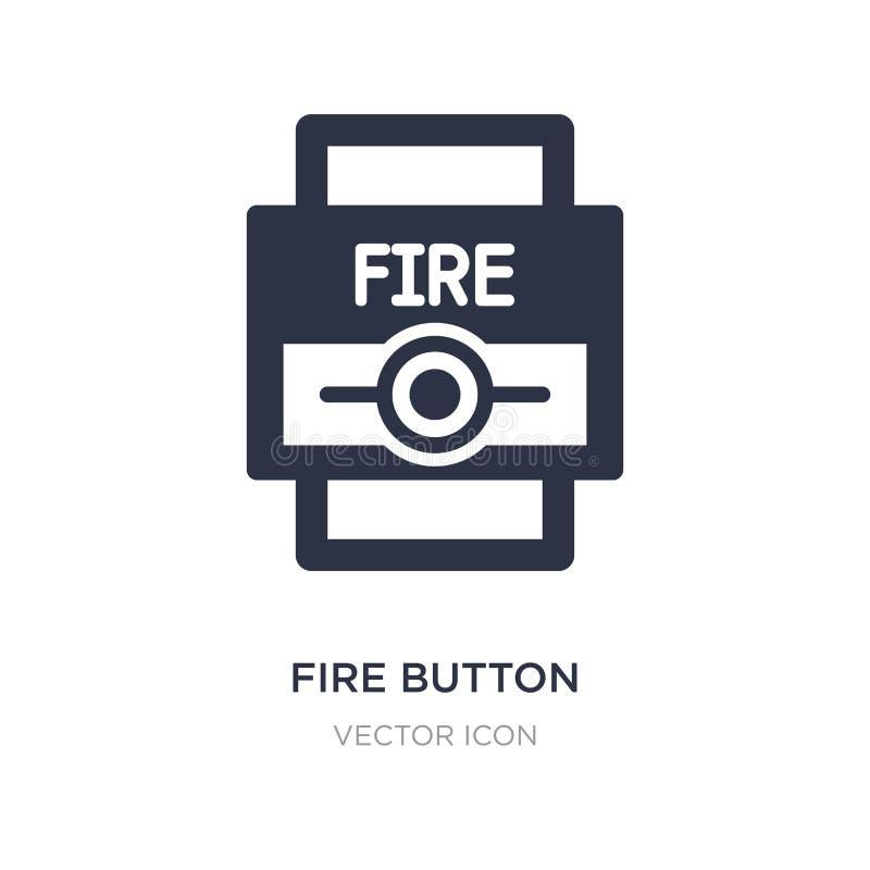 εικονίδιο κουμπιών πυρκαγιάς στο άσπρο υπόβαθρο Απλή απεικόνιση στοιχείων από την άγρυπνη έννοια διανυσματική απεικόνιση
