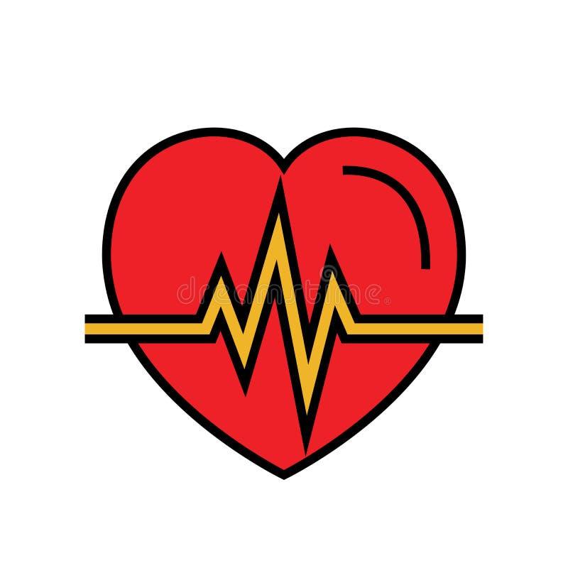 Εικονίδιο κτύπου της καρδιάς αυτοματοποιημένο εξωτερικό defibrillator σύμβολο απλός γραφικός διανυσματική απεικόνιση