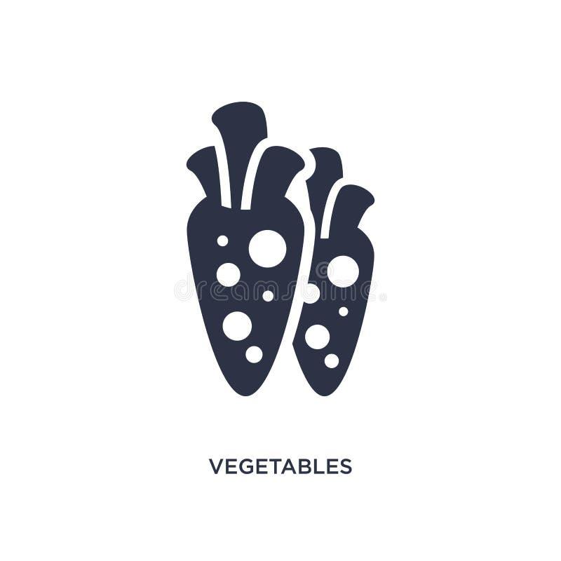 εικονίδιο λαχανικών στο άσπρο υπόβαθρο Απλή απεικόνιση στοιχείων από την έννοια καλλιέργειας απεικόνιση αποθεμάτων