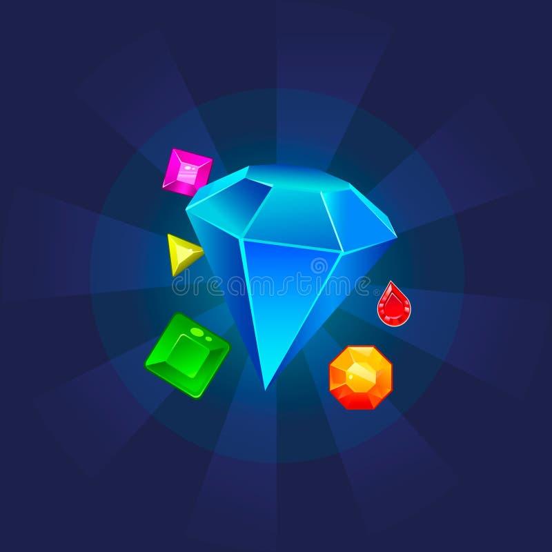 Εικονίδιο/λογότυπο Diamante Απεικόνιση τέχνης διανυσματική απεικόνιση
