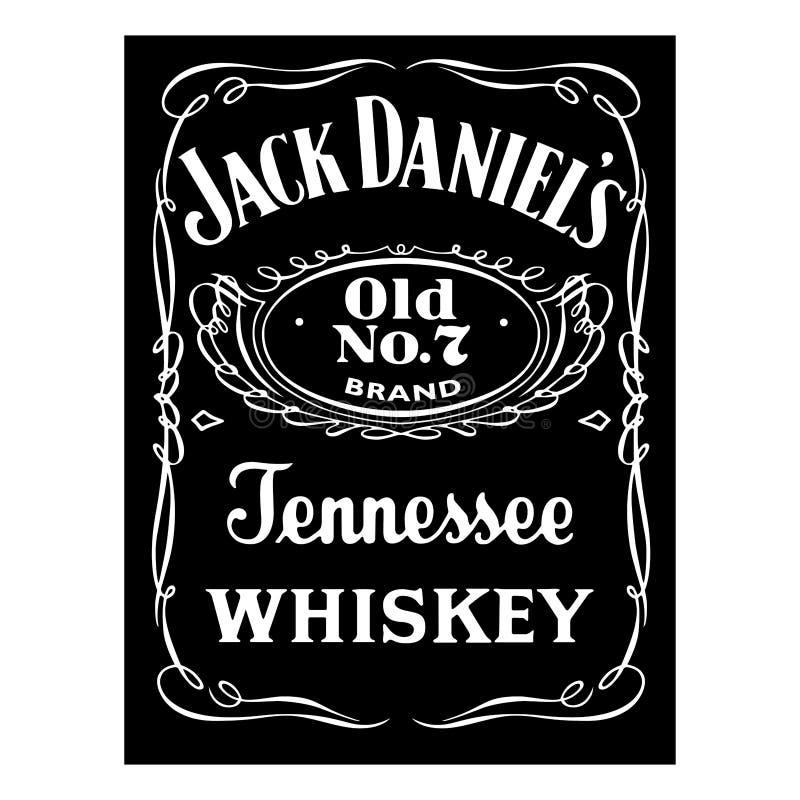 Εικονίδιο λογότυπων επιχείρησης του Jack Ντάνιελ απεικόνιση αποθεμάτων