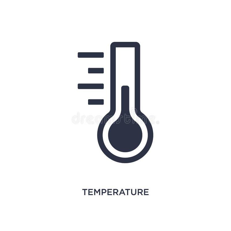 εικονίδιο μέτρου θερμοκρασίας στο άσπρο υπόβαθρο Απλή απεικόνιση στοιχείων από την έννοια μέτρησης διανυσματική απεικόνιση