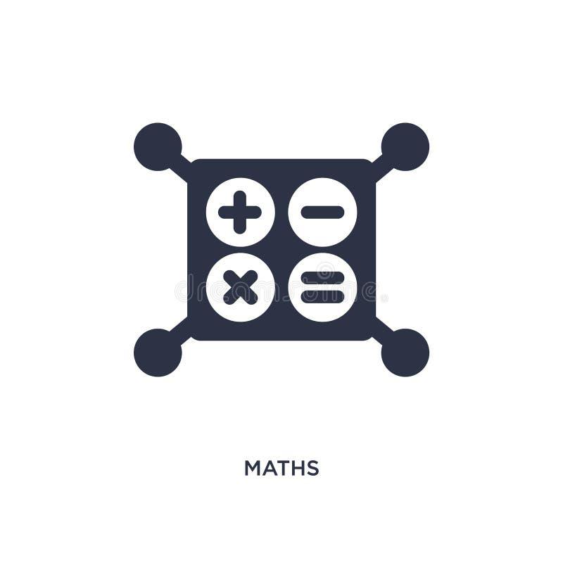εικονίδιο μαθηματικών στο άσπρο υπόβαθρο Απλή απεικόνιση στοιχείων από την εκπαίδευση 2 έννοια απεικόνιση αποθεμάτων