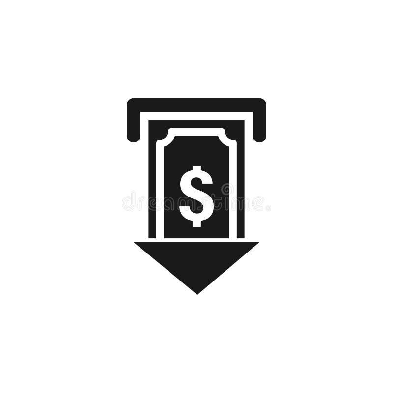 εικονίδιο μετρητών δολαρίων χρηστών ATM Τα σημάδια και τα σύμβολα μπορούν να χρησιμοποιηθούν για τον Ιστό, λογότυπο, κινητό app,  διανυσματική απεικόνιση