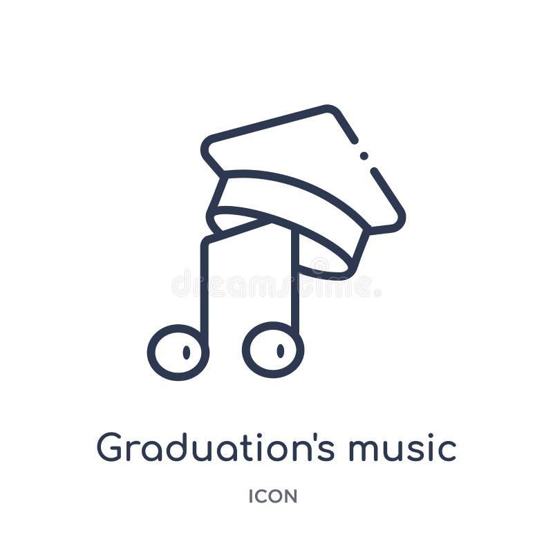 Εικονίδιο μουσικής της γραμμικής βαθμολόγησης από τη συλλογή περιλήψεων εκπαίδευσης Διάνυσμα μουσικής της λεπτής βαθμολόγησης γρα ελεύθερη απεικόνιση δικαιώματος