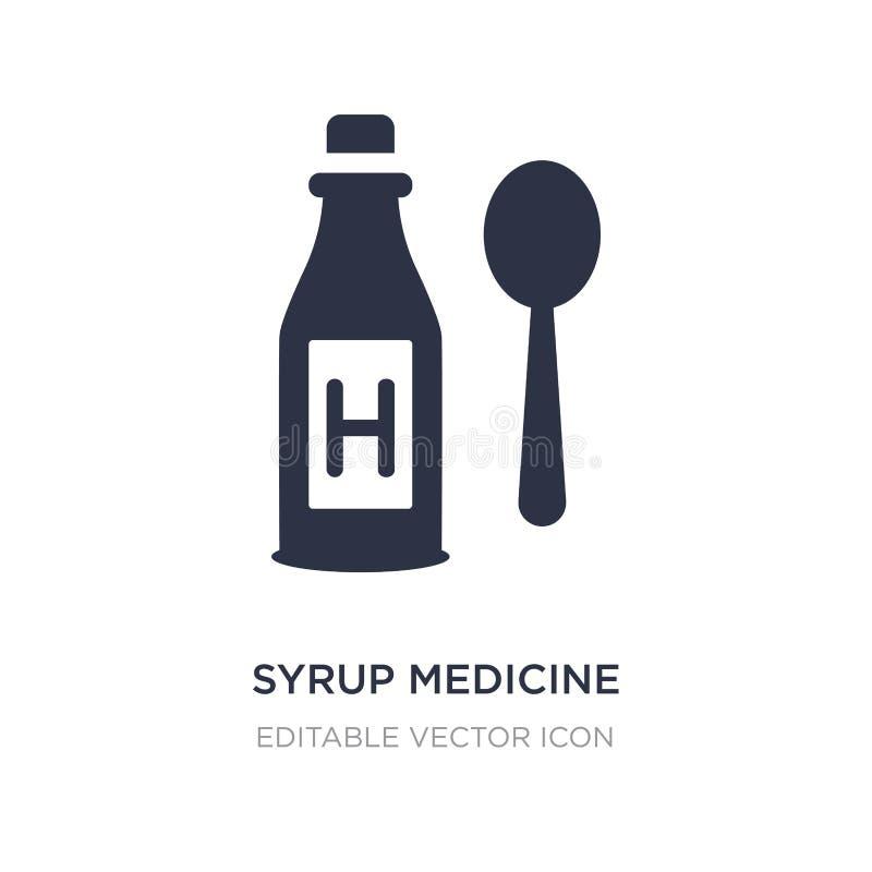 εικονίδιο μπουκαλιών ιατρικής σιροπιού στο άσπρο υπόβαθρο Απλή απεικόνιση στοιχείων από την ιατρική έννοια ελεύθερη απεικόνιση δικαιώματος