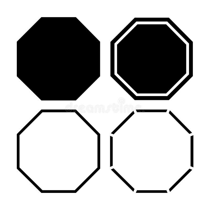 Εικονίδιο οκταγώνων επίσης corel σύρετε το διάνυσμα απεικόνισης απεικόνιση αποθεμάτων