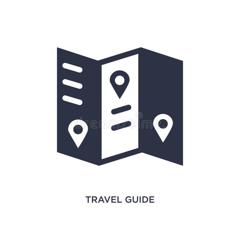 εικονίδιο οδηγών ταξιδιού στο άσπρο υπόβαθρο Απλή απεικόνιση στοιχείων από τη θερινή έννοια απεικόνιση αποθεμάτων