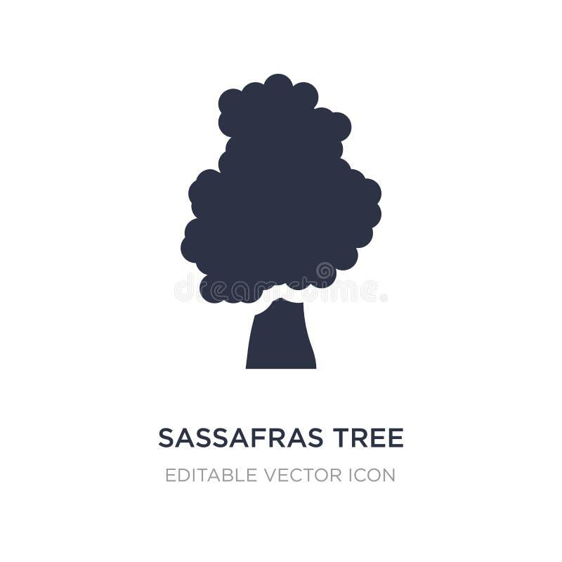 εικονίδιο δέντρων σασαφράδων στο άσπρο υπόβαθρο Απλή απεικόνιση στοιχείων από την έννοια φύσης διανυσματική απεικόνιση