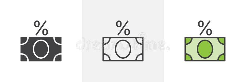 Εικονίδιο δανείου ενδιαφέροντος ελεύθερη απεικόνιση δικαιώματος
