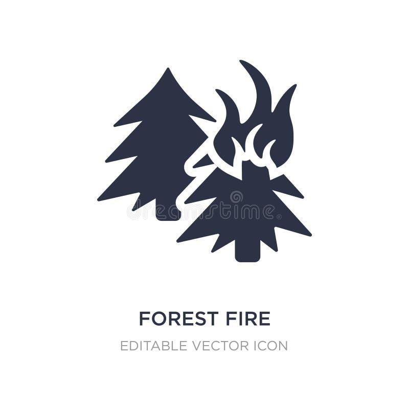 εικονίδιο δασικής πυρκαγιάς στο άσπρο υπόβαθρο Απλή απεικόνιση στοιχείων από την έννοια φύσης διανυσματική απεικόνιση