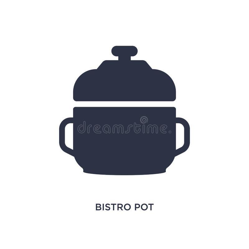 εικονίδιο δοχείων bistro στο άσπρο υπόβαθρο Απλή απεικόνιση στοιχείων από την έννοια bistro και εστιατορίων ελεύθερη απεικόνιση δικαιώματος