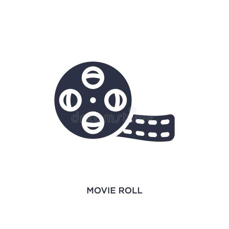 εικονίδιο ρόλων κινηματογράφων στο άσπρο υπόβαθρο Απλή απεικόνιση στοιχείων από την έννοια κινηματογράφων ελεύθερη απεικόνιση δικαιώματος