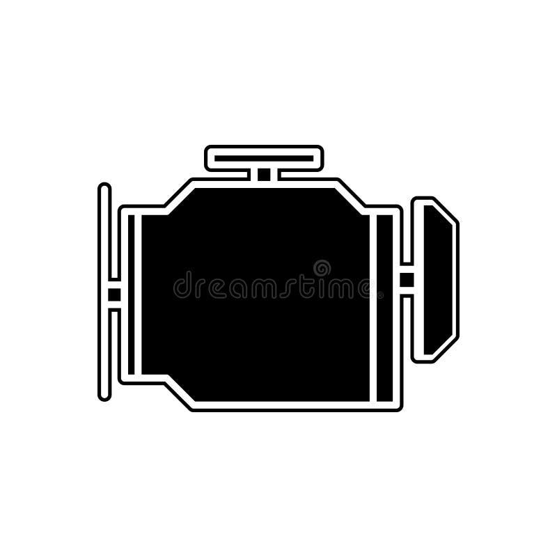 εικονίδιο σημαδιών μηχανών Στοιχείο των μερών υπηρεσιών και επισκευής αυτοκινήτων για το κινητό εικονίδιο έννοιας και Ιστού apps  απεικόνιση αποθεμάτων