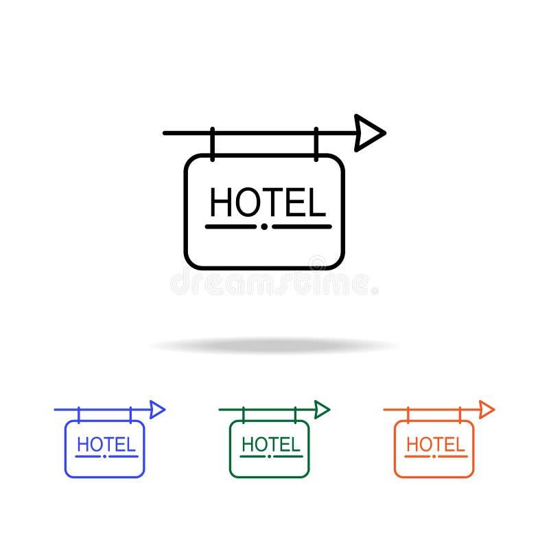 Εικονίδιο σημαδιών ξενοδοχείων Στοιχεία του απλού εικονιδίου Ιστού στο πολυ χρώμα Γραφικό εικονίδιο σχεδίου εξαιρετικής ποιότητας απεικόνιση αποθεμάτων