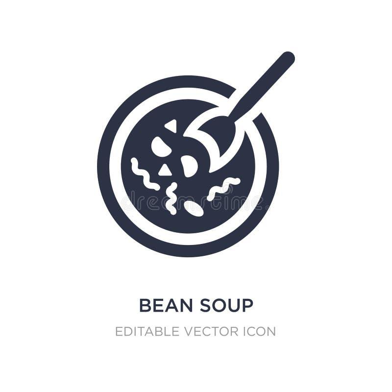 εικονίδιο σούπας φασολιών στο άσπρο υπόβαθρο Απλή απεικόνιση στοιχείων από την έννοια τροφίμων ελεύθερη απεικόνιση δικαιώματος