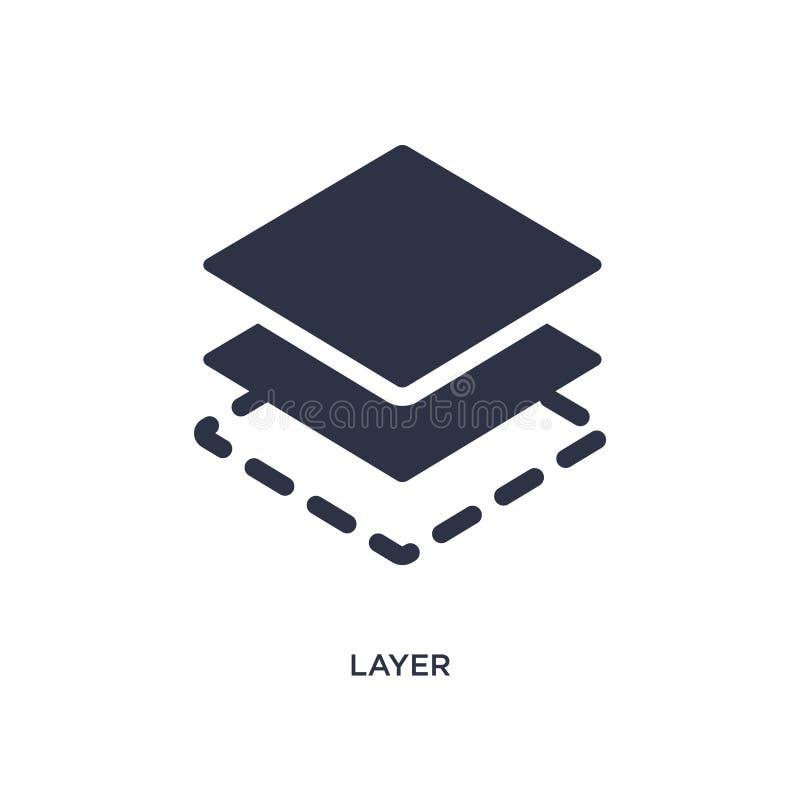 εικονίδιο στρώματος στο άσπρο υπόβαθρο Απλή απεικόνιση στοιχείων από την έννοια γεωμετρίας ελεύθερη απεικόνιση δικαιώματος