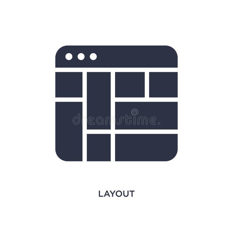 Εικονίδιο σχεδιαγράμματος στο άσπρο υπόβαθρο Απλή απεικόνιση στοιχείων από την έννοια ενδιάμεσων με τον χρήστη διανυσματική απεικόνιση