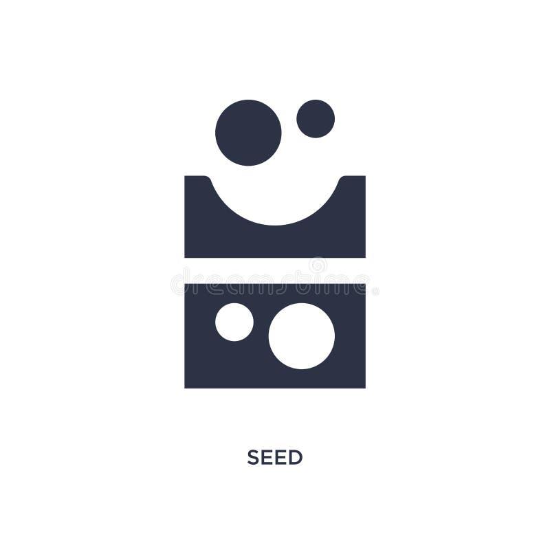 Εικονίδιο σπόρου στο άσπρο υπόβαθρο Απλή απεικόνιση στοιχείων από την έννοια καλλιέργειας ελεύθερη απεικόνιση δικαιώματος