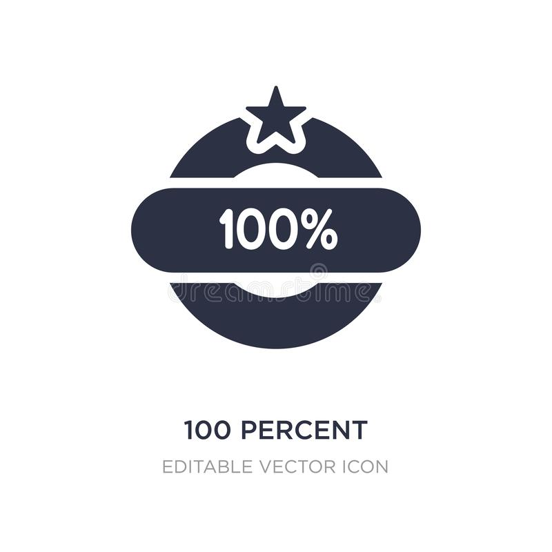 εικονίδιο 100 τοις εκατό στο άσπρο υπόβαθρο Απλή απεικόνιση στοιχείων από τη διάφορη έννοια απεικόνιση αποθεμάτων