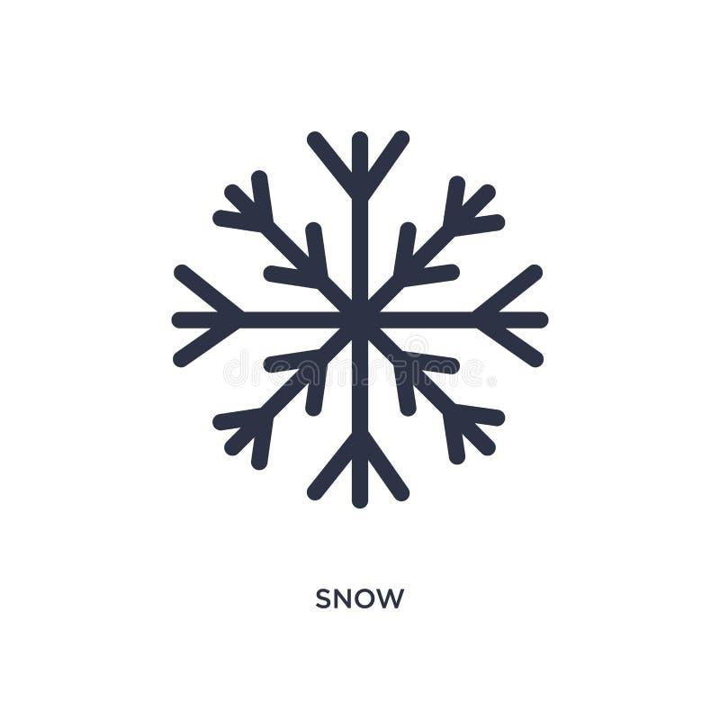 Εικονίδιο χιονιού στο άσπρο υπόβαθρο Απλή απεικόνιση στοιχείων από την καιρική έννοια διανυσματική απεικόνιση