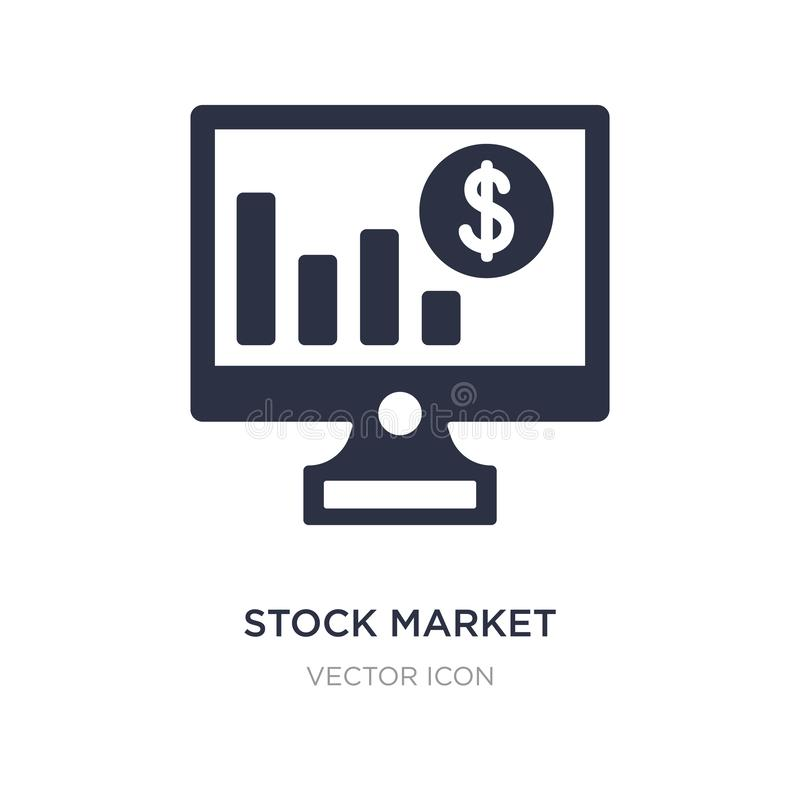 εικονίδιο χρηματιστηρίου στο άσπρο υπόβαθρο Απλή απεικόνιση στοιχείων από την έννοια επιχειρήσεων και analytics απεικόνιση αποθεμάτων