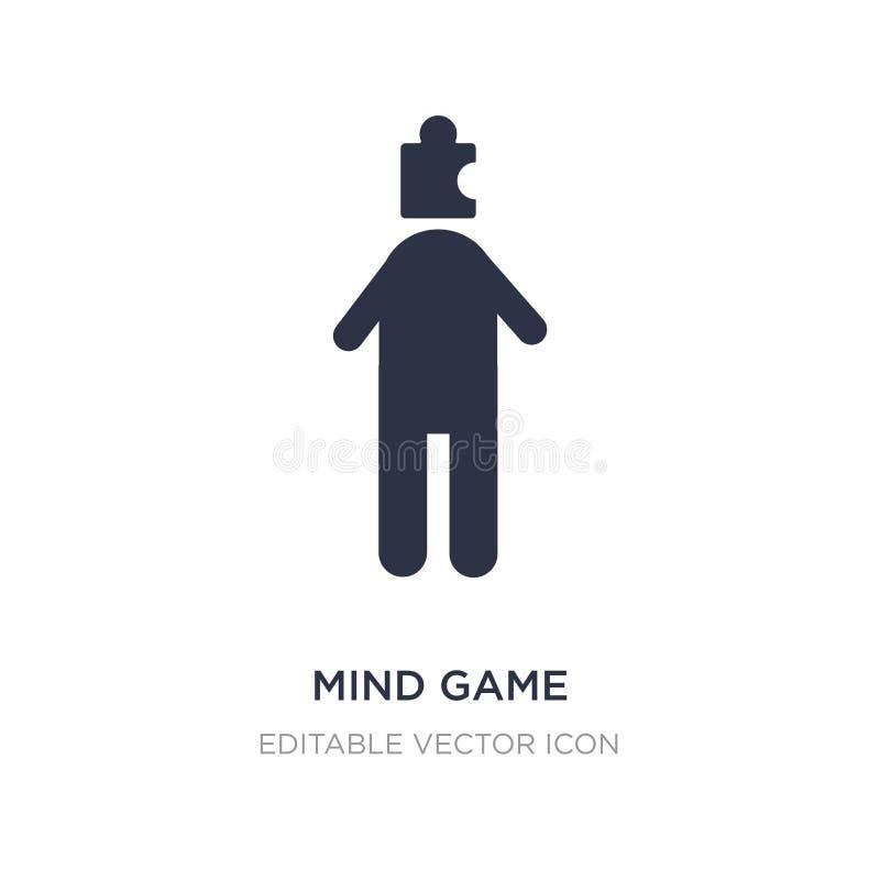 εικονίδιο παιχνιδιών μυαλού στο άσπρο υπόβαθρο Απλή απεικόνιση στοιχείων από την έννοια ανθρώπων απεικόνιση αποθεμάτων
