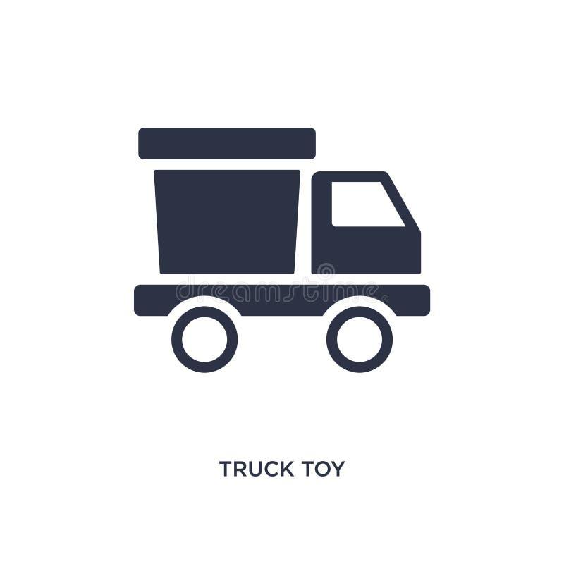 εικονίδιο παιχνιδιών φορτηγών στο άσπρο υπόβαθρο Απλή απεικόνιση στοιχείων από την έννοια παιχνιδιών ελεύθερη απεικόνιση δικαιώματος