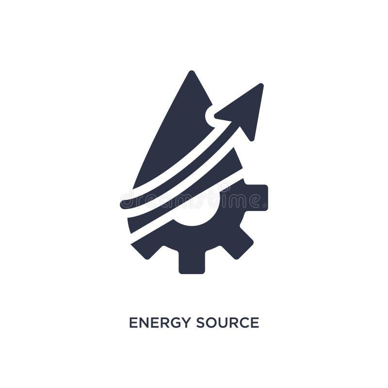 εικονίδιο πηγής ενέργειας στο άσπρο υπόβαθρο Απλή απεικόνιση στοιχείων από την έννοια οικολογίας διανυσματική απεικόνιση