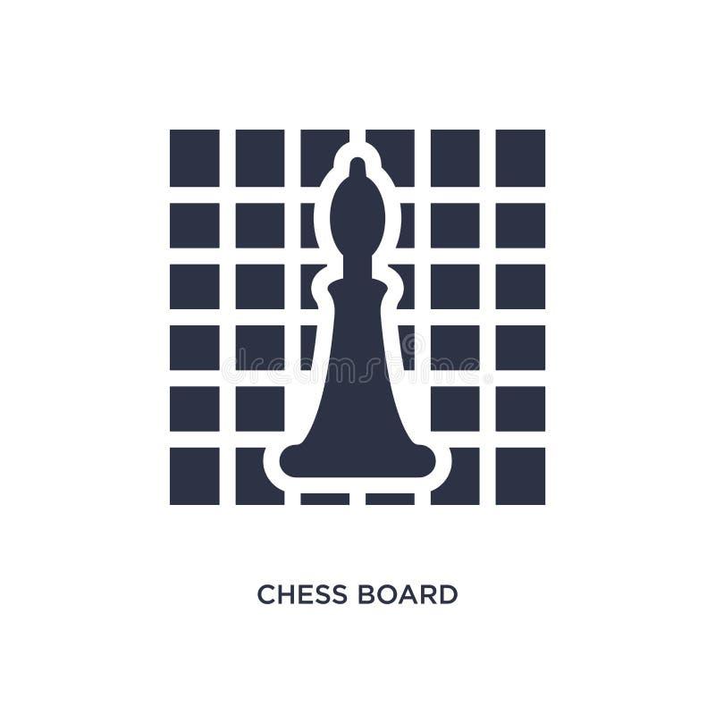 εικονίδιο πινάκων σκακιού στο άσπρο υπόβαθρο Απλή απεικόνιση στοιχείων από την έννοια χόμπι απεικόνιση αποθεμάτων
