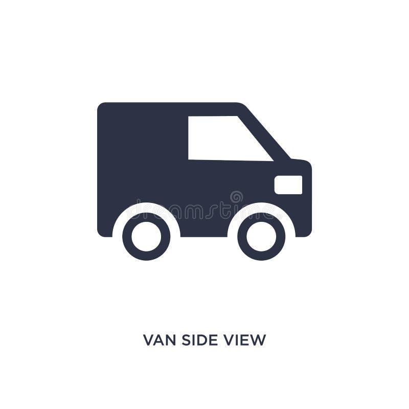 εικονίδιο πλάγιας όψης φορτηγών στο άσπρο υπόβαθρο Απλή απεικόνιση στοιχείων από την έννοια mechanicons ελεύθερη απεικόνιση δικαιώματος