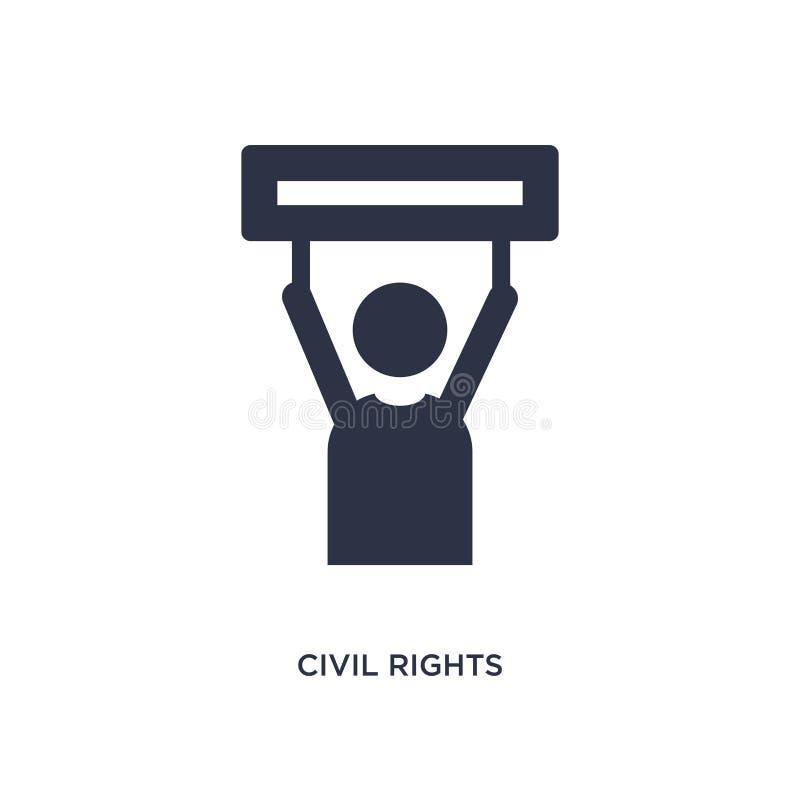 εικονίδιο πολιτικών δικαιωμάτων στο άσπρο υπόβαθρο Απλή απεικόνιση στοιχείων από την έννοια νόμου και δικαιοσύνης διανυσματική απεικόνιση