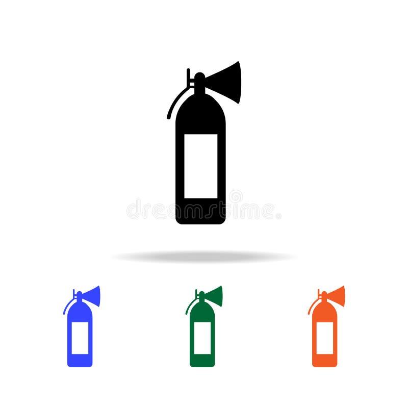 Εικονίδιο πυροσβεστήρων Στοιχεία του απλού εικονιδίου Ιστού στο πολυ χρώμα Γραφικό εικονίδιο σχεδίου εξαιρετικής ποιότητας Απλό ε ελεύθερη απεικόνιση δικαιώματος