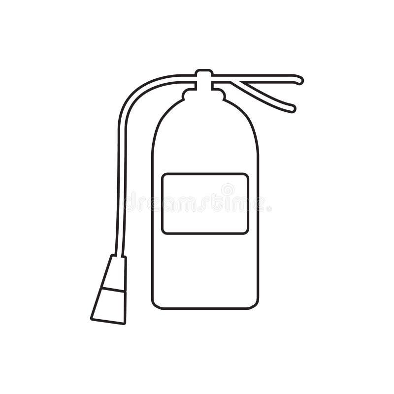 Εικονίδιο πυροσβεστήρων Στοιχείο της κινητών έννοιας guardfor πυρκαγιάς και του εικονιδίου Ιστού apps Περίληψη, λεπτό εικονίδιο γ ελεύθερη απεικόνιση δικαιώματος