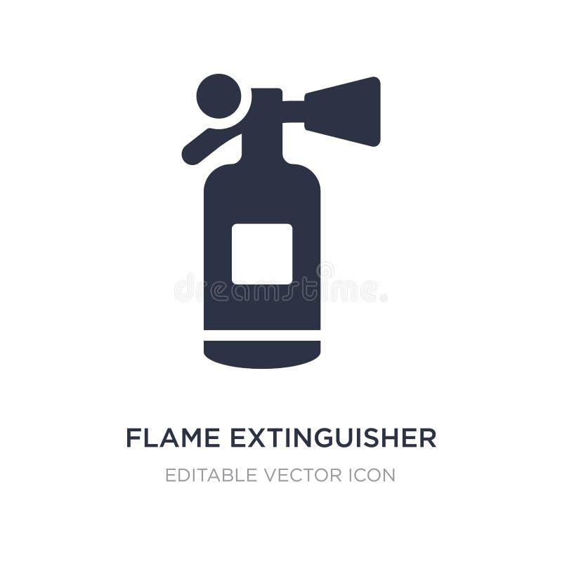 εικονίδιο πυροσβεστήρων φλογών στο άσπρο υπόβαθρο Απλή απεικόνιση στοιχείων από την έννοια εργαλείων και εργαλείων διανυσματική απεικόνιση