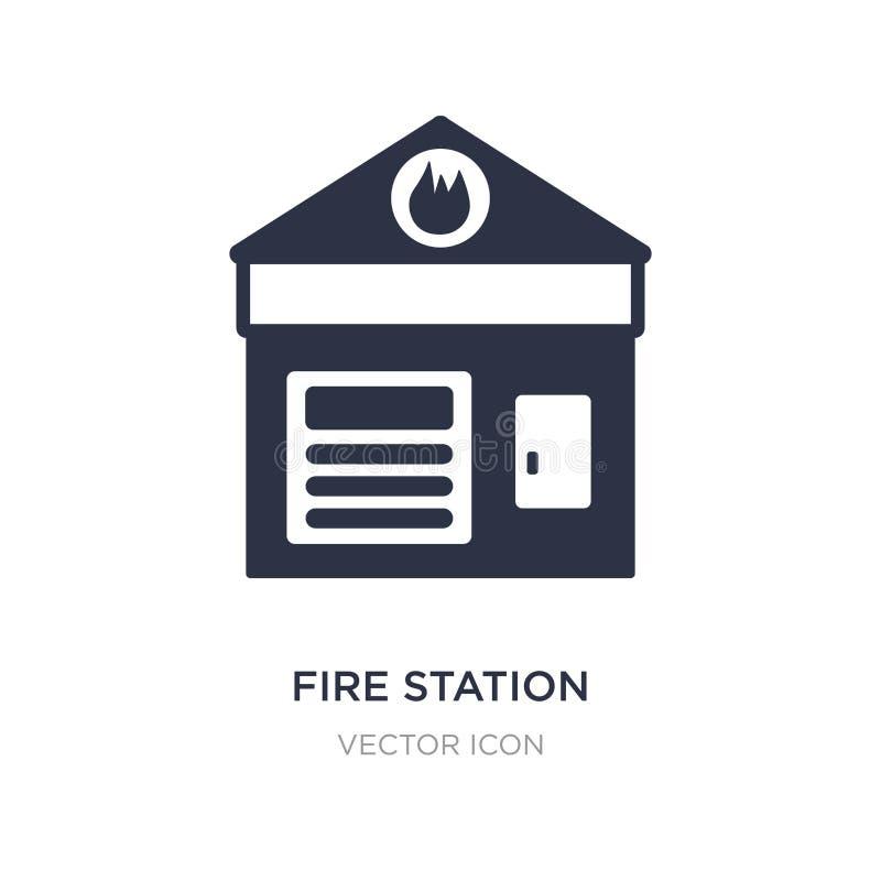 εικονίδιο πυροσβεστικών σταθμών στο άσπρο υπόβαθρο Απλή απεικόνιση στοιχείων από την έννοια στοιχείων πόλεων απεικόνιση αποθεμάτων