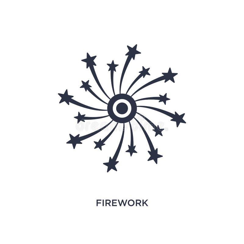 Εικονίδιο πυροτεχνημάτων στο άσπρο υπόβαθρο Απλή απεικόνιση στοιχείων από την έννοια αγάπης & γάμου απεικόνιση αποθεμάτων