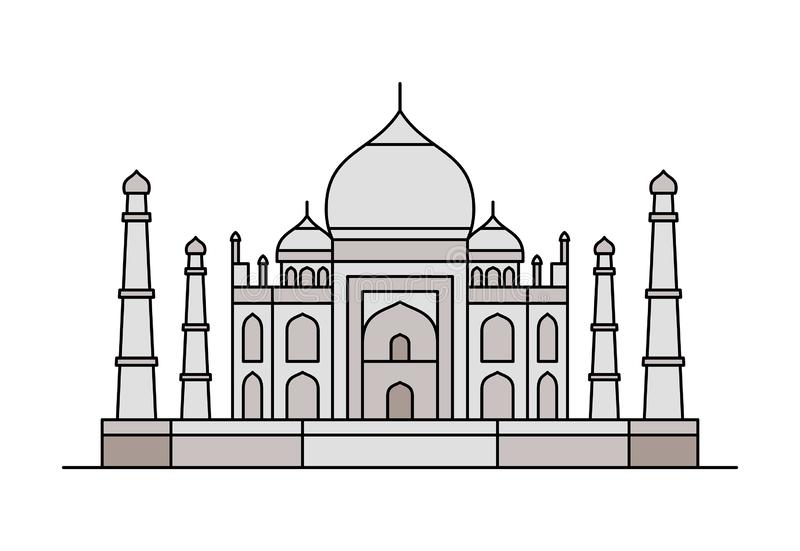 Εικονίδιο Mahal Taj επίσης corel σύρετε το διάνυσμα απεικόνισης διανυσματική απεικόνιση