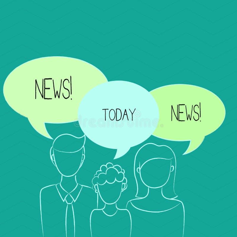 Ειδήσεις κειμένων γραψίματος λέξης Επιχειρησιακή έννοια για την έκθεση ραδιοφωνικής μετάδοσης MEDIA πληροφοριών πρόσφατων γεγονότ διανυσματική απεικόνιση