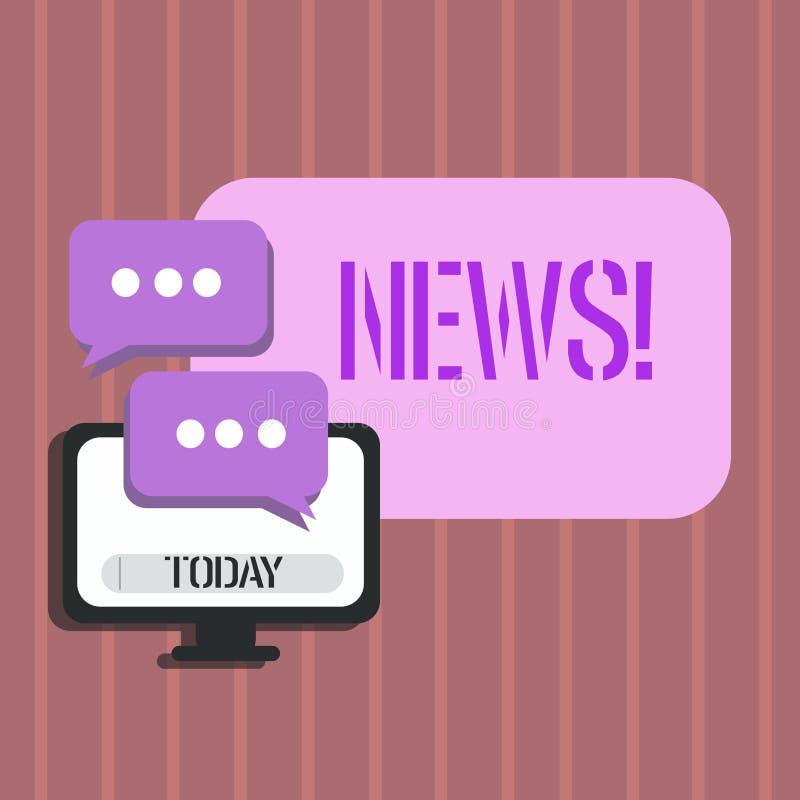 Ειδήσεις κειμένων γραψίματος λέξης Επιχειρησιακή έννοια για την έκθεση ραδιοφωνικής μετάδοσης MEDIA πληροφοριών πρόσφατων γεγονότ ελεύθερη απεικόνιση δικαιώματος