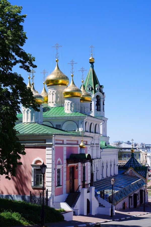 Εκκλησία του Nativity του John ο βαπτιστικός σε Nizhny Novgorod στοκ εικόνα