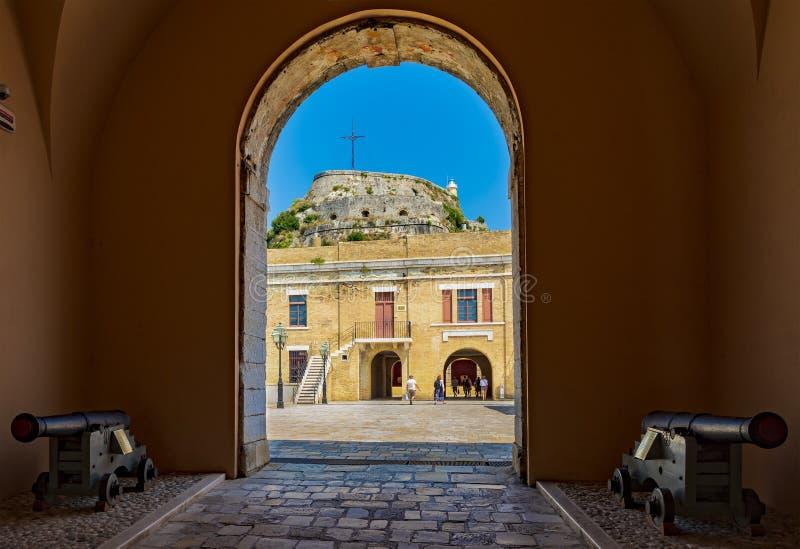 Εκκλησία του ST George στο παλαιό φρούριο σε Kerkyra, Κέρκυρα, Ελλάδα στοκ φωτογραφία με δικαίωμα ελεύθερης χρήσης