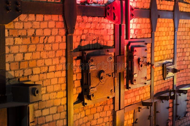 εκκλησιών διαγώνιος γοτθικός υπόγειος θάλαμος θεών της Πολωνίας ραβδωτός Εσωτερικό της έγερσης Βαρσοβία μουσείων στοκ φωτογραφία